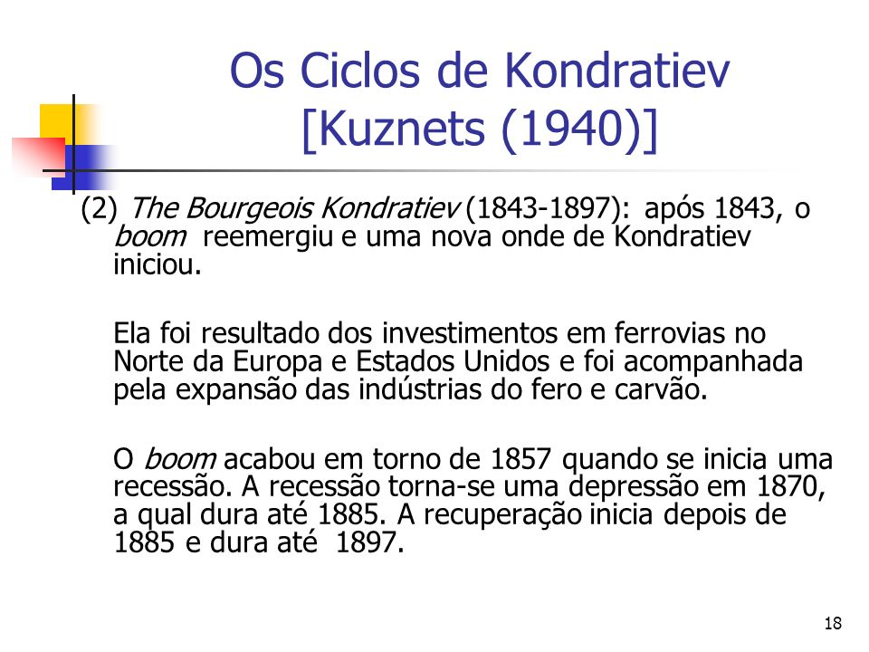 Os Ciclos de Kondratiev [Kuznets (1940)]